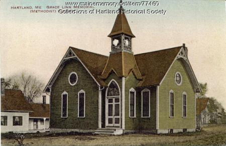 Grace Linn Memorial Methodist Church, Hartland, ca. 1900