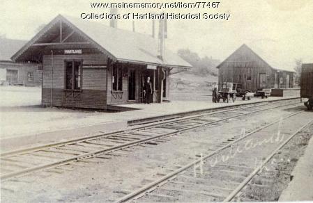 Sebasticook and Moosehead Railroad, Hartland Depot, ca. 1900
