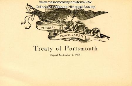 Treaty of Portsmouth, Sept. 5, 1905