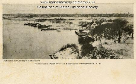 Henderson's Point prior to excavation, Kittery, 1905
