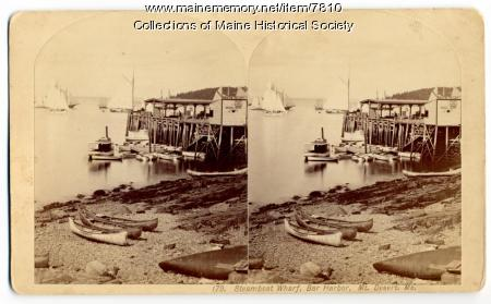 Steamboat wharf, Bar Harbor, ca. 1890