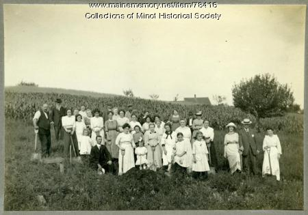 Minot Center Grange ground breaking, 1886
