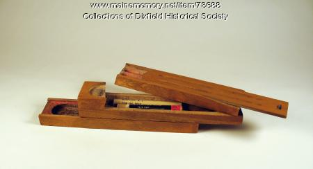 Wooden Pencil Box, Dixfield, ca. 1950