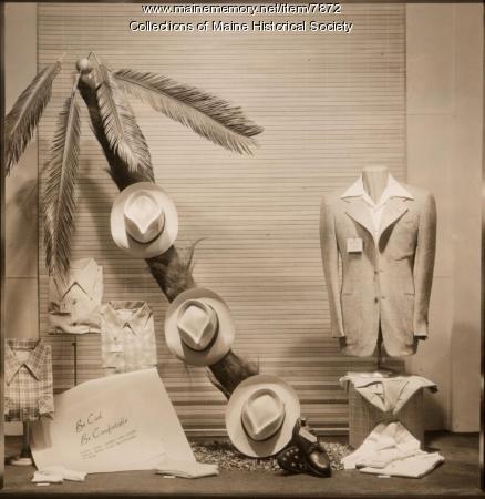 Window display, Benoit's, Portland, ca. 1930