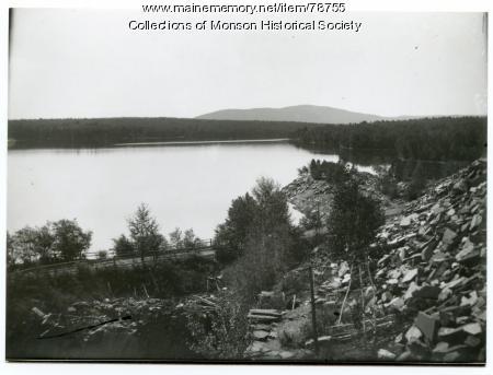 Abandoned Hebron Slate Quarry, Monson, ca. 1935
