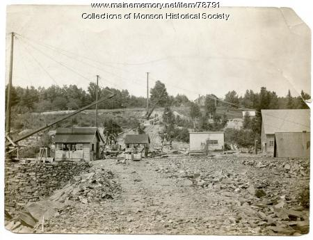 Quarry buildings, Monson, ca. 1890