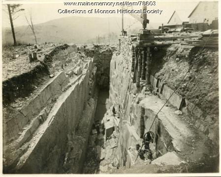 Early Quarry Operation, Monson, ca. 1890