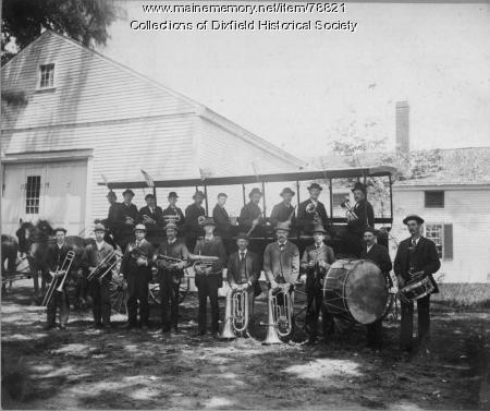 The Renowned Dixfield Band, Dixfield, ca. 1890.