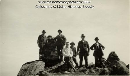 Hikers, Katahdin summit, 1923
