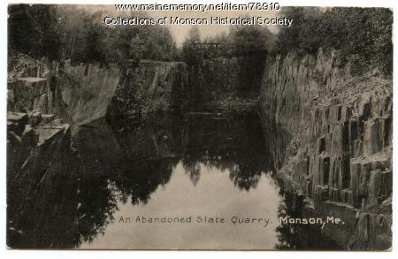 Abandoned Quarry, Monson, ca. 1900