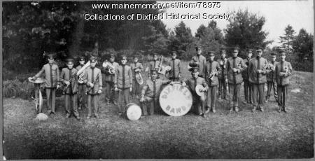 The Dixfield Band in official performance uniforms, Dixfield, ca. 1900