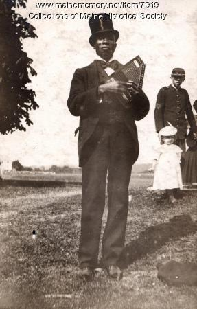 Cadet training camp musician, Harpswell, 1896