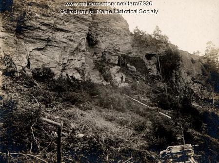 Cliff at High Head in Harpswell,  1896