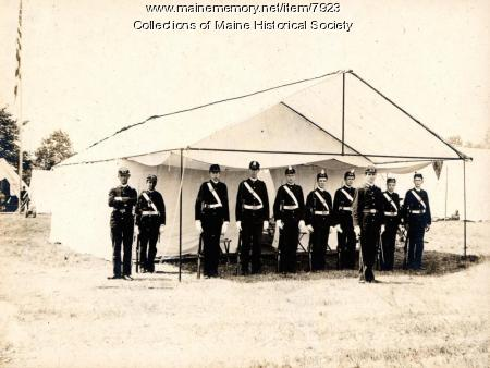 Guard tent, cadets, Harpswell, 1896