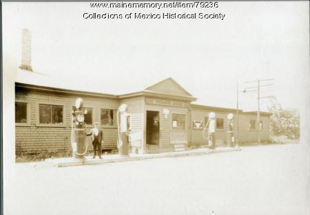 Richards Garage, River Road, Ridlonville, 1935