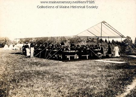 Rifle Range, Portland High School cadets, 1896