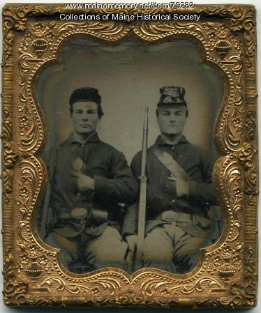 Horatio and John Longfellow, Cornville, ca. 1862