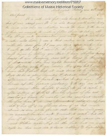 James L. Hunt to parents, Newburyport, 1845