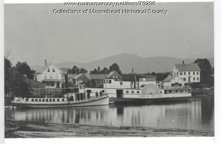 "Steamboats ""Rebecca"" and ""Fairy of the Lake,"" Moosehead Lake, ca. 1890"