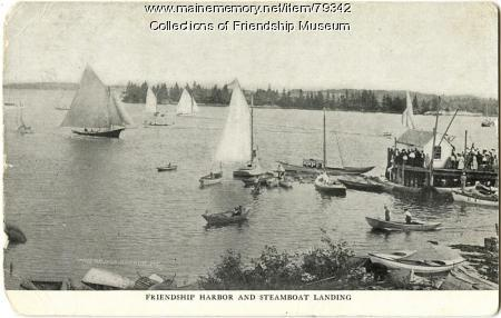 Friendship Harbor and the steamboat landing, ca. 1910