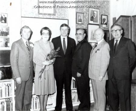 Dedication of the Centre d'Héritage Franco-Américain, Auburn, 1983