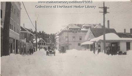 Main Street in Northeast Harbor, ca. 1930