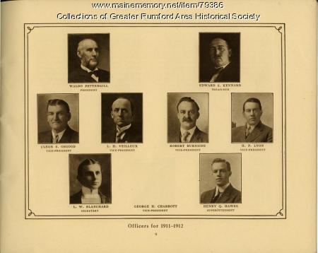 Mechanics Institute Officers, Rumford, 1911
