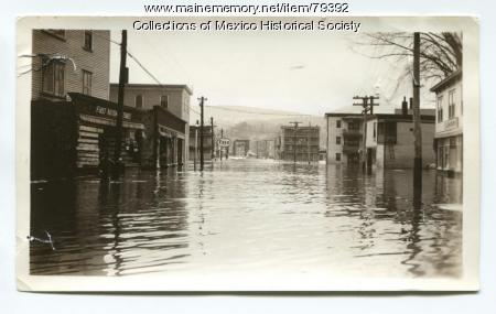 Flood on Bridge Street, Mexico, 1936