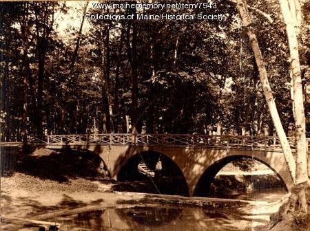 Deering Oaks bridge, Portland, 1896