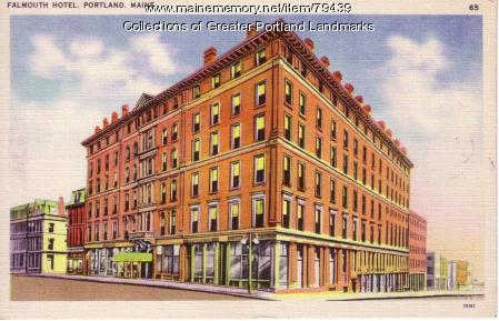 Falmouth Hotel, Portland, ca. 1940