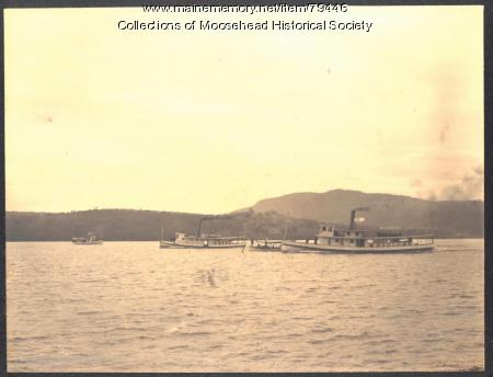 Steamboats on Moosehead Lake, 1901