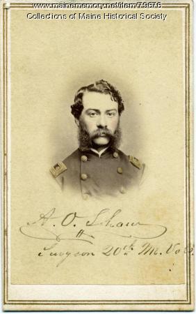 A. O Shaw, 20th Maine Regiment, 1864