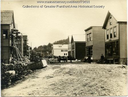 Congress Street looking South, Rumford Falls, ca. 1893