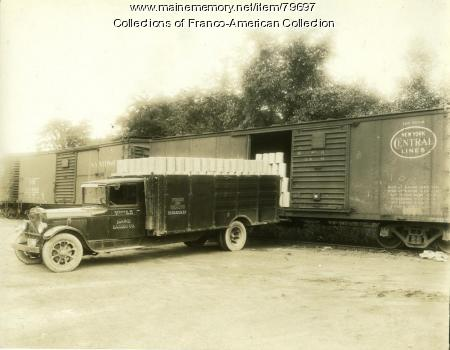 Maine Baking Company delivery truck, Auburn, ca.1930
