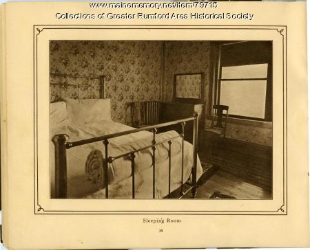 Sleeping Room, Mechanics Institute, Rumford, 1911