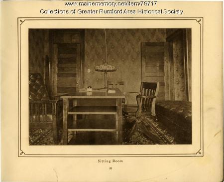 Sitting Room, Mechanics Institute, Rumford, 1911