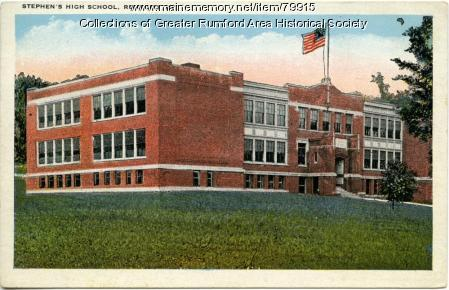 Stephens High School, Rumford, ca. 1912