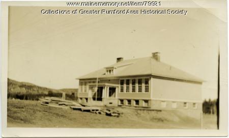 McDonald School in Smith Crossing, Rumford, ca. 1908