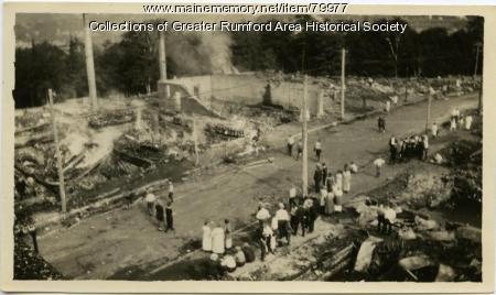 Waldo Street fire, Rumford, 1923