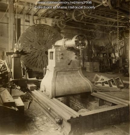 Lathe at the Portland Company