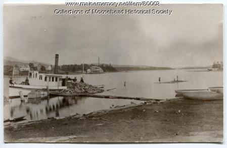 Steamboat Ripple, Moosehead Lake, ca. 1885