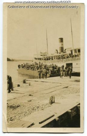 Moosehead Lake Auto Barge, ca. 1910