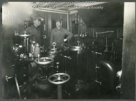 Steamer Katahdin II valve room, ca. 1918