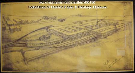 Maine Coated Paper Company blueprint, 1903