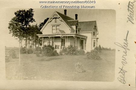 Walter Wotton house, Friendship, ca. 1907