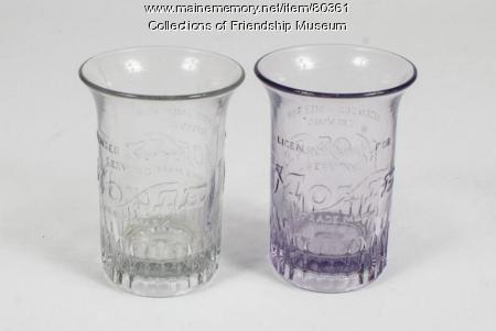 Moxie glasses, ca. 1920