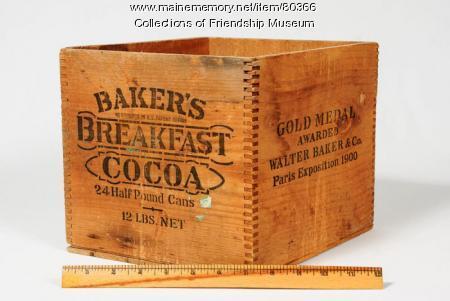 Bakers Breakfast Cocoa box, ca. 1910