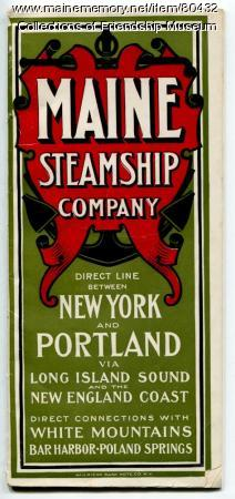 Maine Steamship Company brochure, 1902