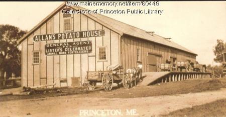 Allan's Potato House, Princeton, ca. 1915