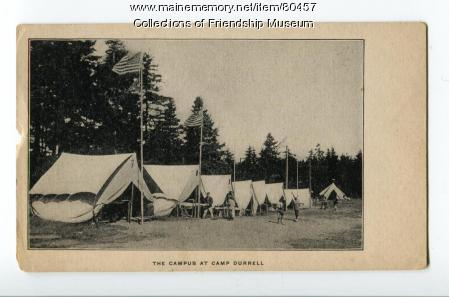 The campus at Camp Durrell, ca. 1910